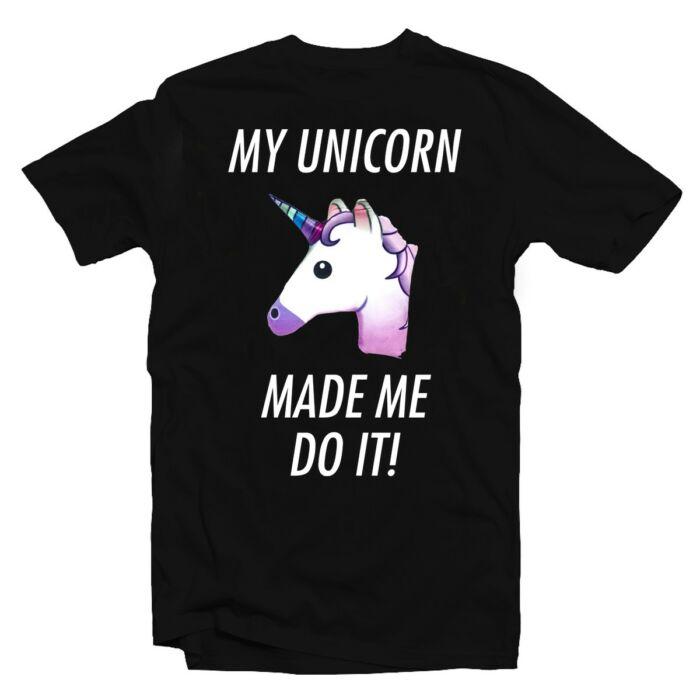 My Unicorn Made Me Do It Vicces Emoji Póló