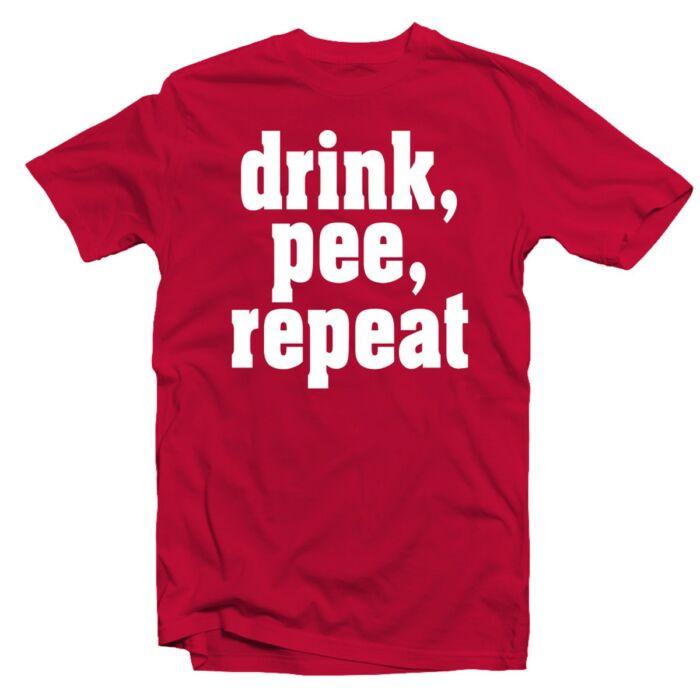 Drink, Pee, Repeat' Feliratos Fesztivál Póló