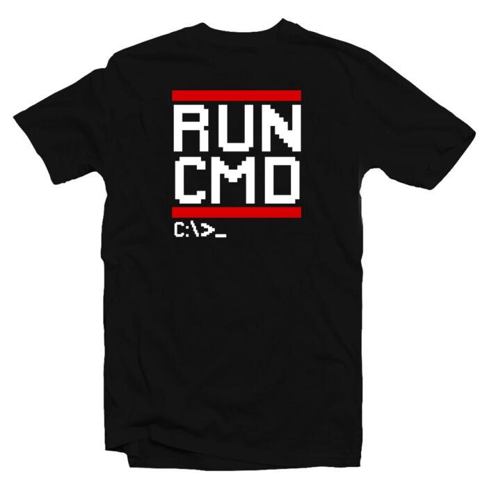 Run CMD Geek Gamer Póló