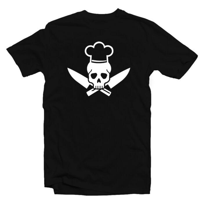 Cook Skull - Koponya Séf - Főzök Ajándék Póló