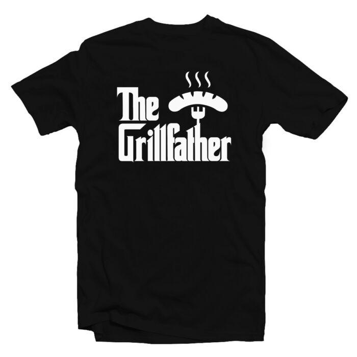 The Grillfather - Kolbász Ajándék Póló Grill Rajongóknak