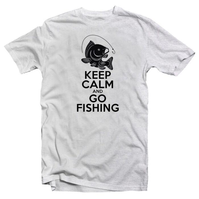 Keep Calm and Go Fishing Vicces, Horgász Póló