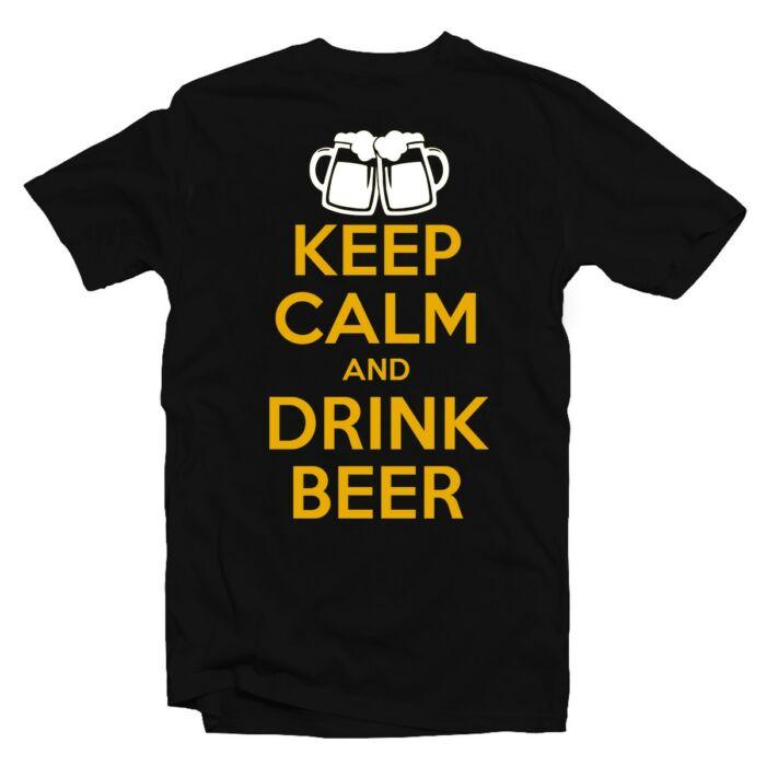 Keep Calm And Drink Beer Ajándék Póló