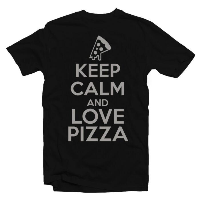 Keep Calm And Love Pizza Meglepetés Póló