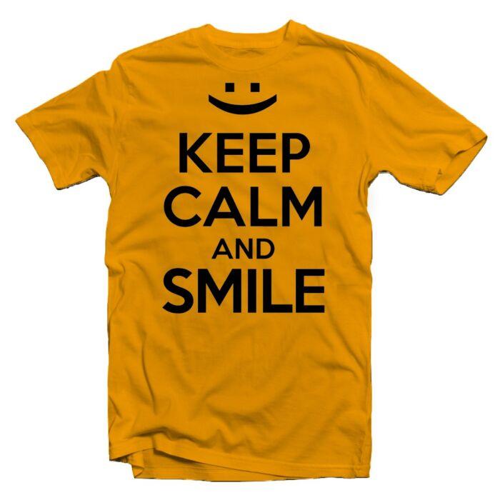 Keep Calm And Smile Ajándék Póló