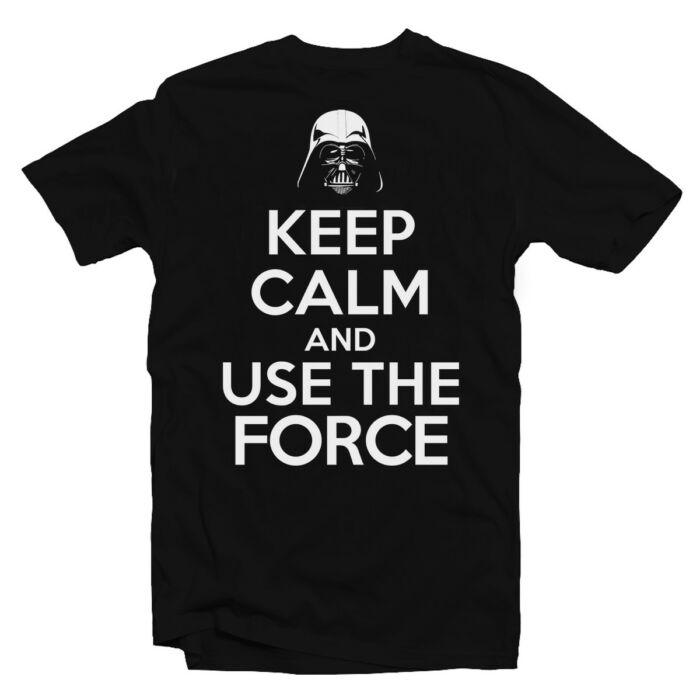 Keep Calm And Use The Force Meglepetés Póló