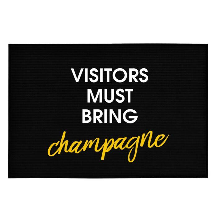 Visitors Must Bring Champagne' Vicces, Tréfás Lábtörlő