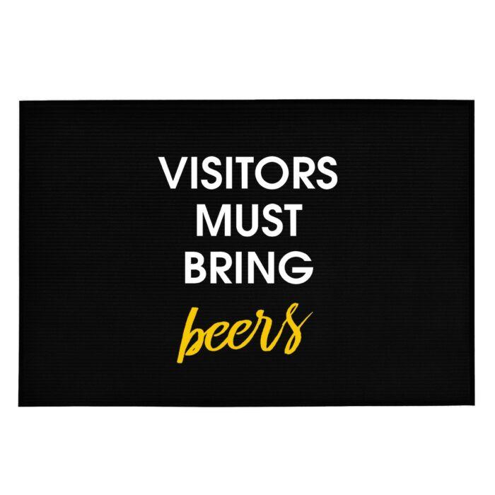 Visitors Must Bring Beers' Vicces, Tréfás Lábtörlő
