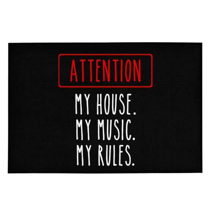 Attention! My Home...' Vicces, Tréfás Lábtörlő
