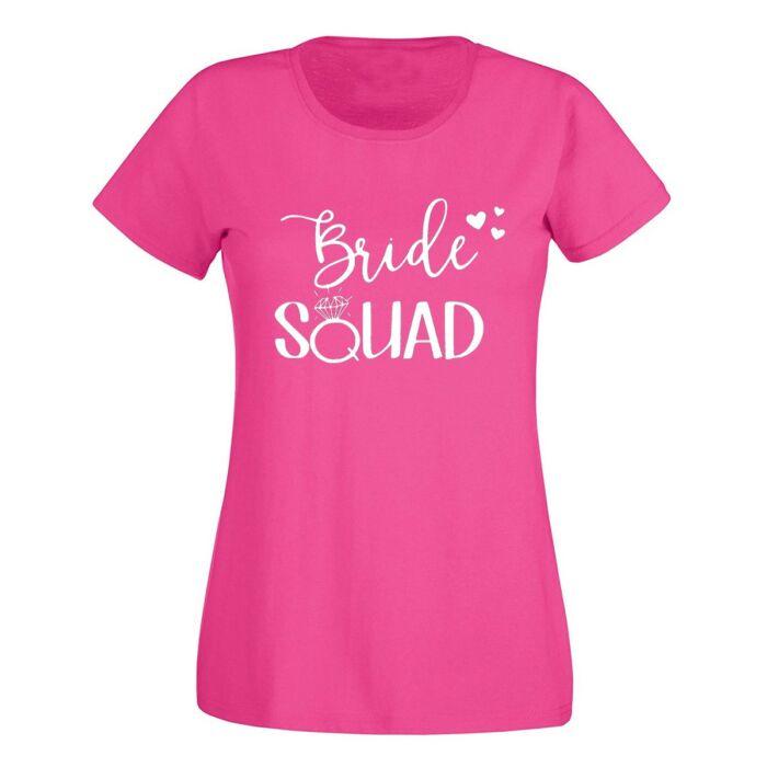 Bride Squad Hearts Feliratú Női Póló Lánybúcsúra