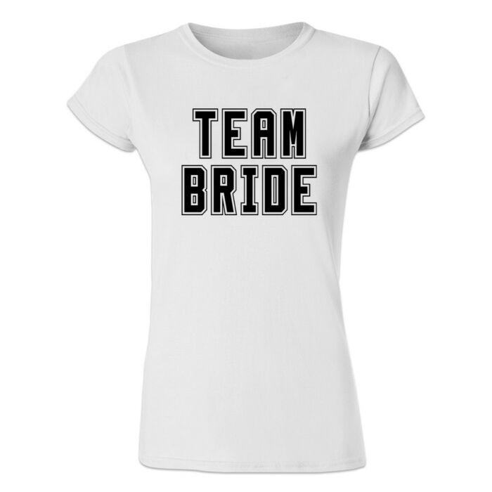 Team Bride' Feliratos Lánybúcsú Női Póló