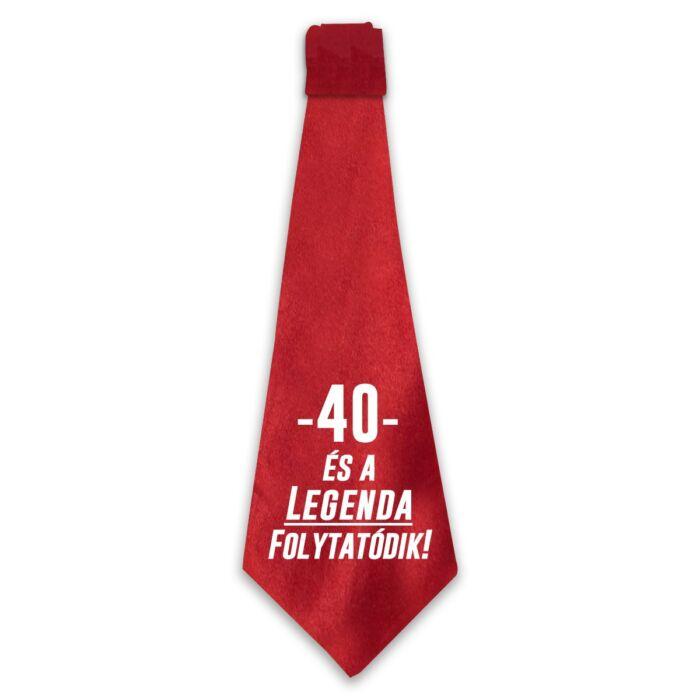 40 és a Legenda Folytatódik! Ajándék Szülinapi Nyakkendő