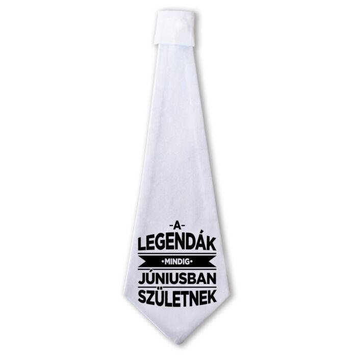 A Legendák Mindig Júniusban Születnek Ajándék Szülinapi Nyakkendő