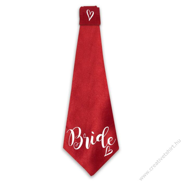 Bride Heart Feliratú Nyakkendő Lánybúcsúra