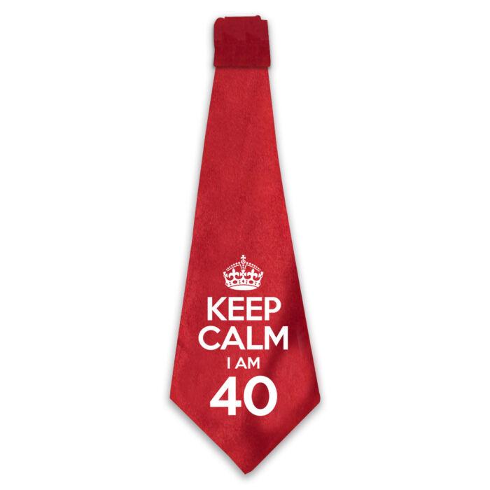 KEEP CALM, I'M 40 Szülinapi Ajándék Nyakkendő