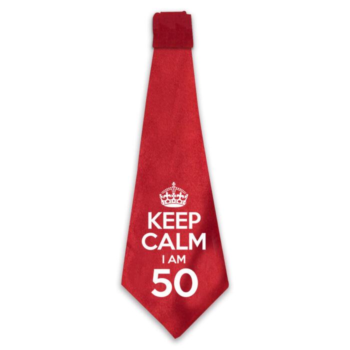 KEEP CALM, I'M 50 Szülinapi Ajándék Nyakkendő