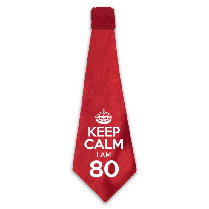 KEEP CALM, I'M 80 Szülinapi Ajándék Nyakkendő
