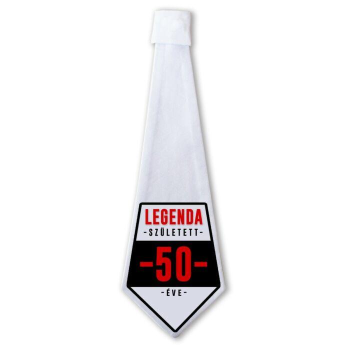 Legenda Született 50 Éve Ajándék Szülinapi Nyakkendő
