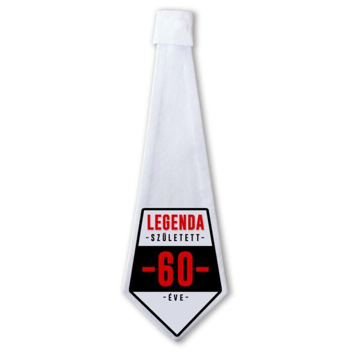 Legenda Született 60 Éve Ajándék Szülinapi Nyakkendő