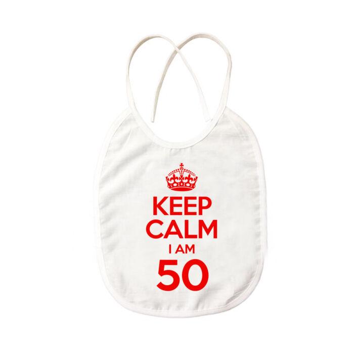 KEEP CALM, I'M 50 Szülinapi Ajándék Pártedli