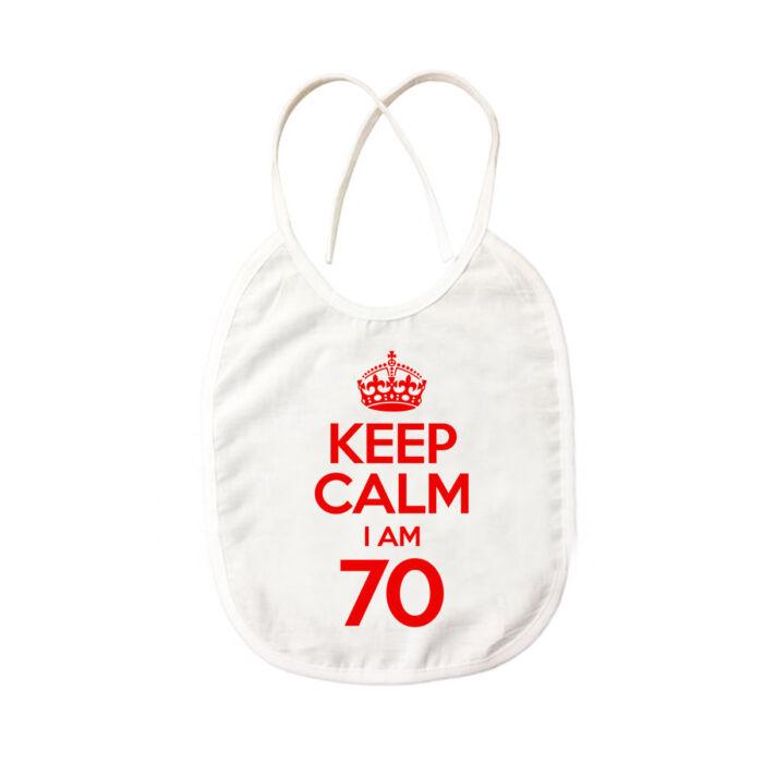 KEEP CALM, I'M 70 Szülinapi Ajándék Pártedli
