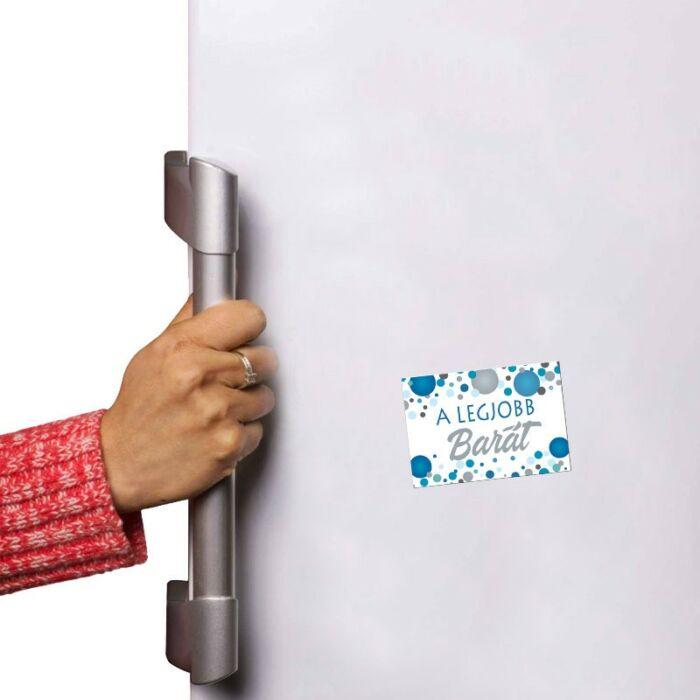 A Legjobb Barát Kék Pasztell Konfettis Hűtőmágnes