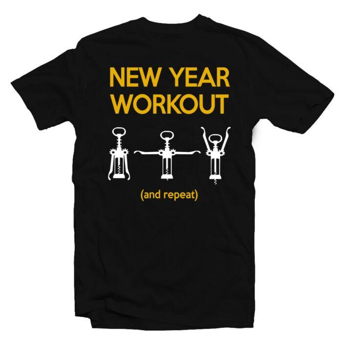New Years Workout Feliratos Póló