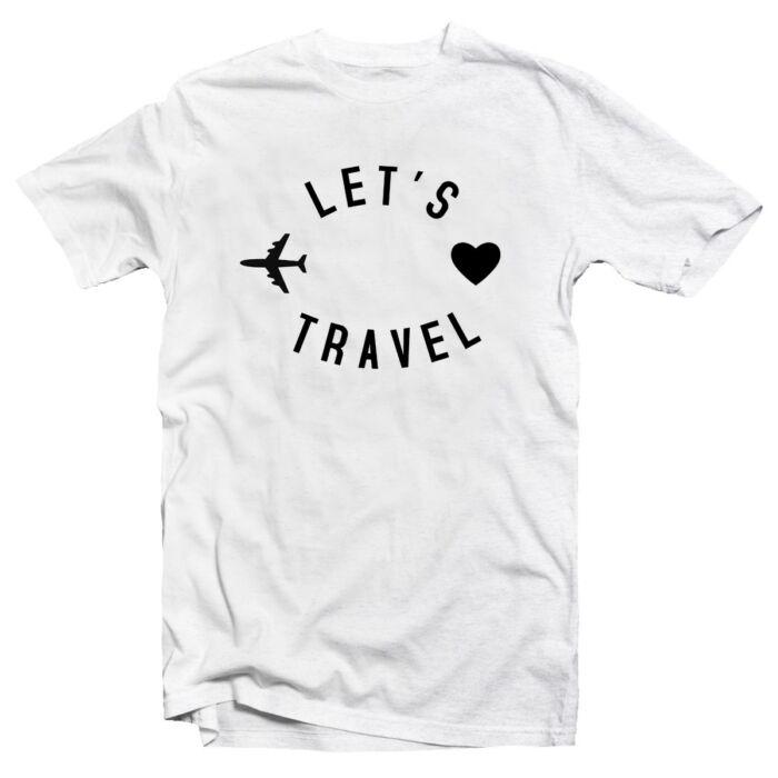 Let's Travel Utazós Feliratos Póló