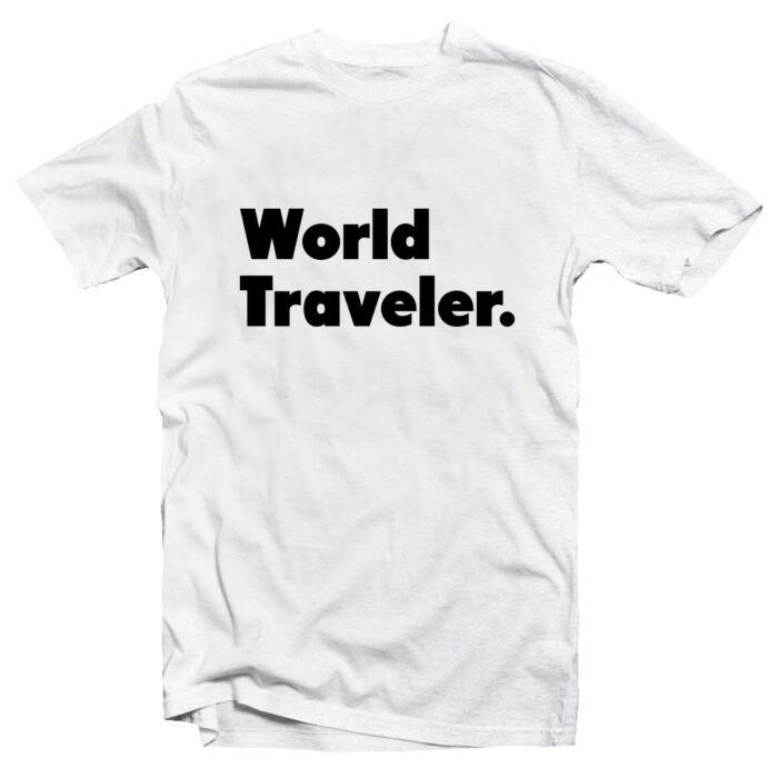 World Traveler. Utazós Ajándék Póló