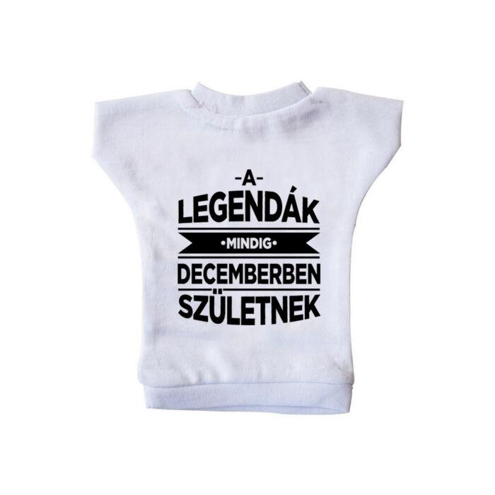 A Legendák Mindig Decemberben Születnek Ajándék Szülinapi Üvegpóló