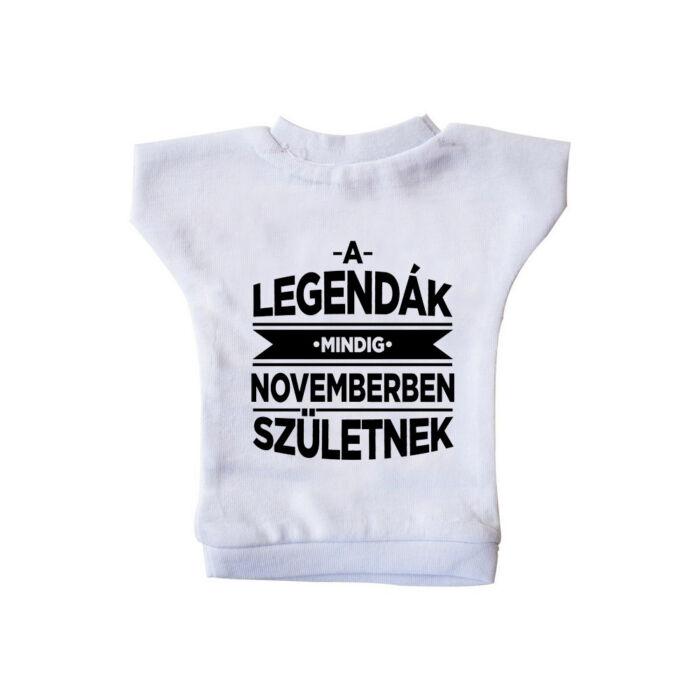 A Legendák Mindig Novemberben Születnek Ajándék Szülinapi Üvegpóló