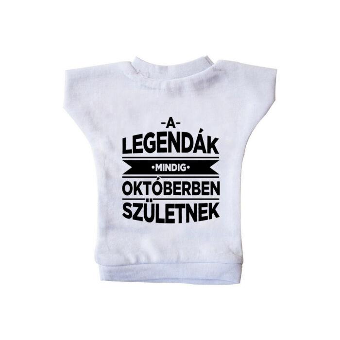 A Legendák Mindig Októberben Születnek Ajándék Szülinapi Üvegpóló