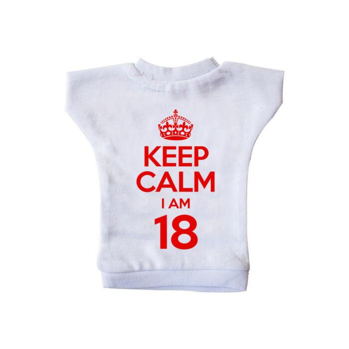 KEEP CALM, I'M 18 Szülinapi Ajándék Üvegpóló