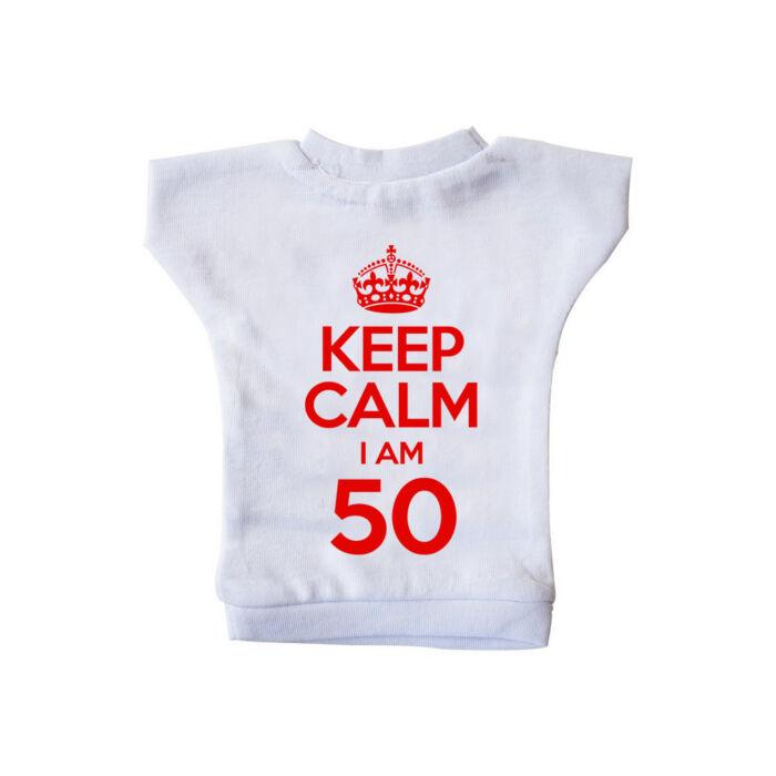 KEEP CALM, I'M 50 Szülinapi Ajándék Üvegpóló