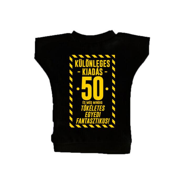 Különleges Kiadás - 50 és Még Mindig Tökéletes Ajándék Szülinapi Üvegpóló
