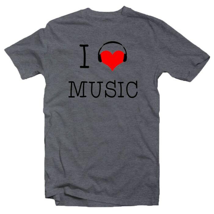 I Love Music Zenei Feliratos Póló