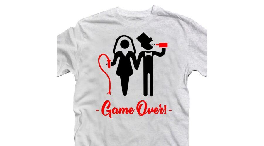 Game Over Páros  Legénybúcsú Party Póló - Ruha és Pólónyomás ... 1426f32c20