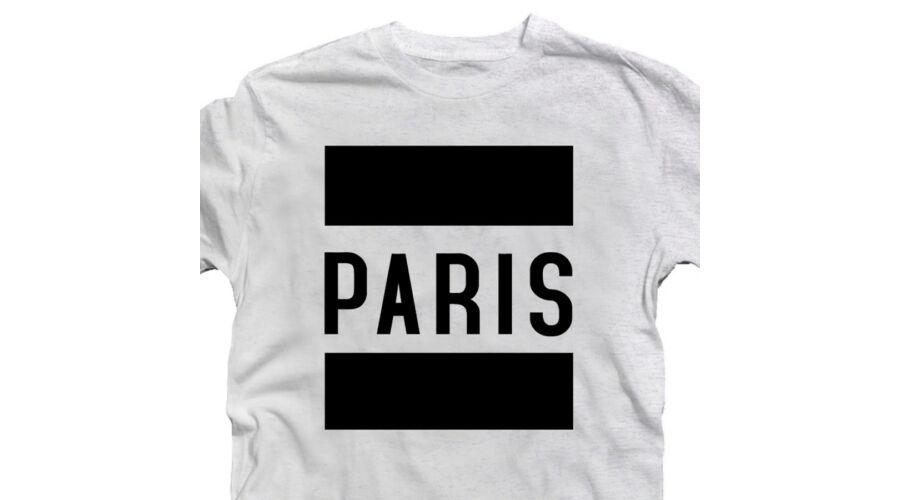 Paris Feliratú Póló - Ruha és Pólónyomás - Vicces 5c0f3400ab